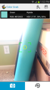 Color-grabbing my yoga mat