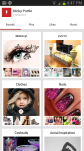 Pinterest App Screenshot